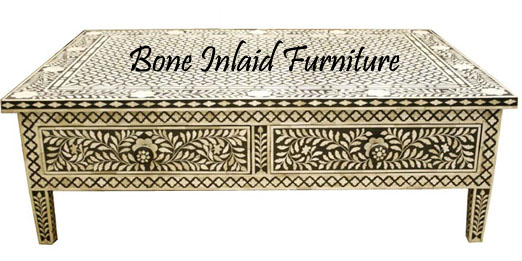 BONE U0026 MOP INLAY COFFEE TABLE